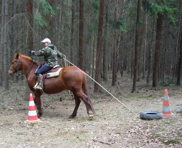 Jízda zručnosti - slalom s pneumatikou