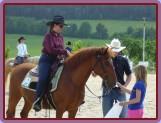 Bask při úloze Horsemanship-část pleasure